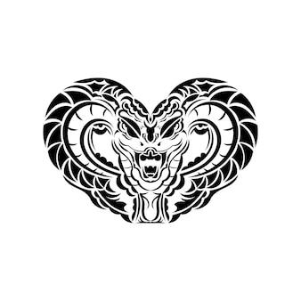 Anaconda serpente illustrazione arte per tatuaggio, logo, etichetta, segno, poster, t-shirt.