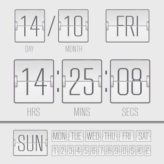 Timer settimanale digitale da tabellone segnapunti nero analogico