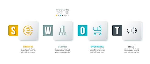 Analisi aziendale o modello di infografica di marketing