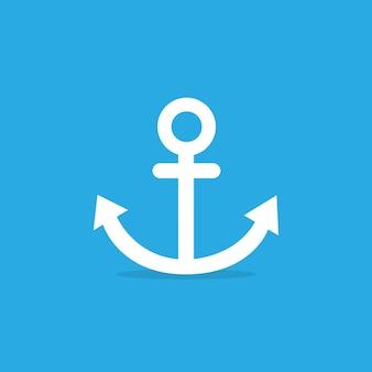 Icona di ancoraggio su sfondo blu. eps vettoriale 10
