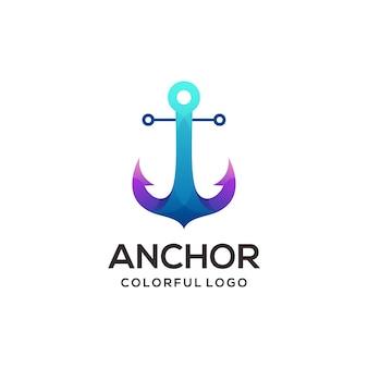 Gradiente colorato del logo di ancoraggio