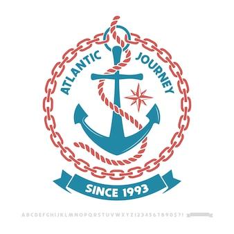 Logo di ancoraggio, logo di avventura nautica