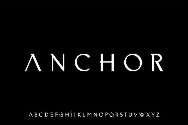 Ancoraggio, il carattere vettoriale di lusso ed elegante display alfabeto