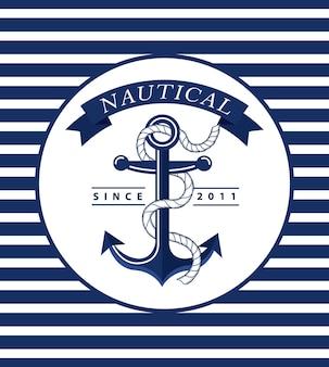 Emblema nautico di ancoraggio