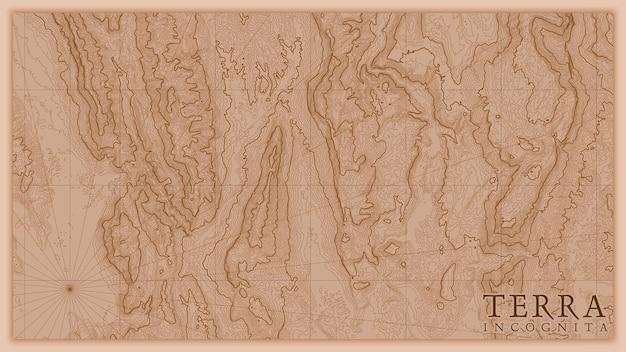 Antica mappa astratta in rilievo di terra antica