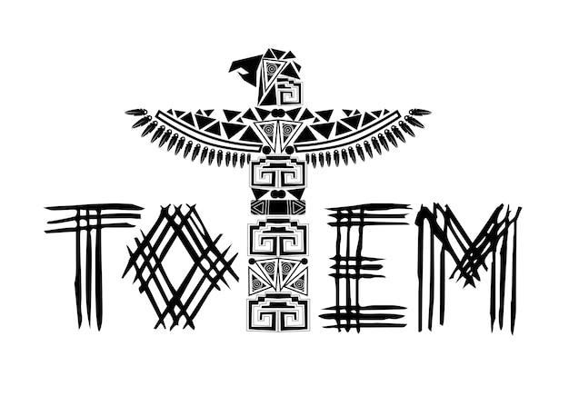Logo del totem nero antico