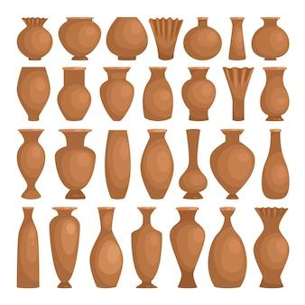 Argilla antica di ciotole decorative.