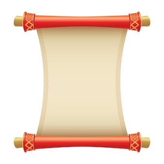 Illustrazione antica del rotolo cinese con il posto per il vostro testo. illustrazione di stile cartone animato