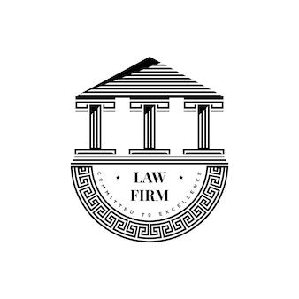 Icona del monumento greco antico. simbolo della costruzione di architettura. vettore di design del logo dell'acropoli retrò vintage
