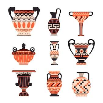 Collezione di vasi greci antichi