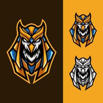 Set di logo antico mascotte horus esport