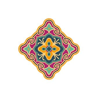 Motivo antico tessuto o tatuaggio tradizionale logo etnico ispirazione