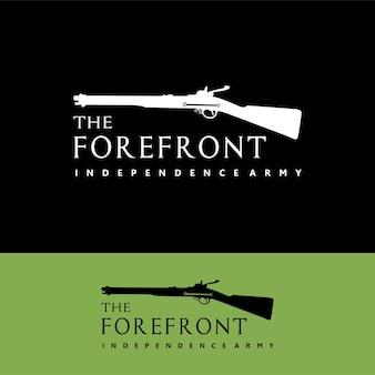 Logo del fucile antico armi vintage della guerra mondiale