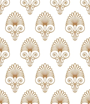 Antico turbinio greco antico piatto senza soluzione di continuità ornamento dorato modello texture sfondo