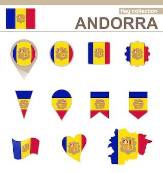 Collezione di bandiere andorra, 12 versioni