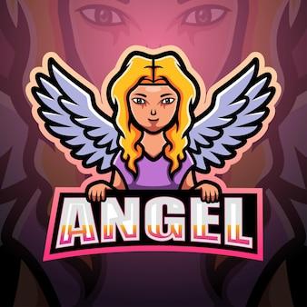 Illustrazione di esport mascotte di angelo