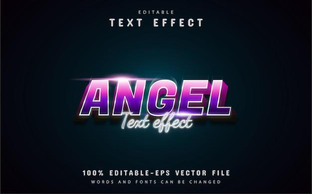 Testo dell'angelo: effetto di testo in stile sfumato modificabile