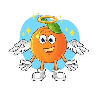 Angelo con il vettore di ali. personaggio dei cartoni animati