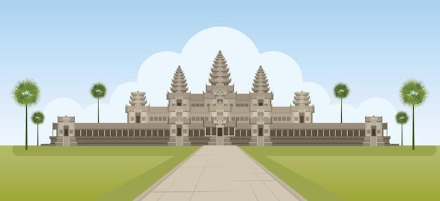 Punto di riferimento di angkor wat cambogia