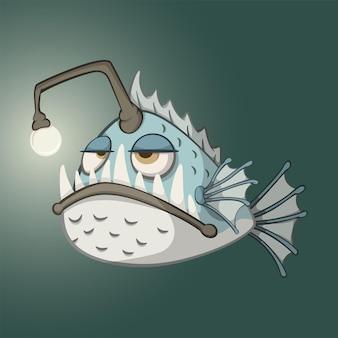 Personaggio dei cartoni animati di rana pescatrice