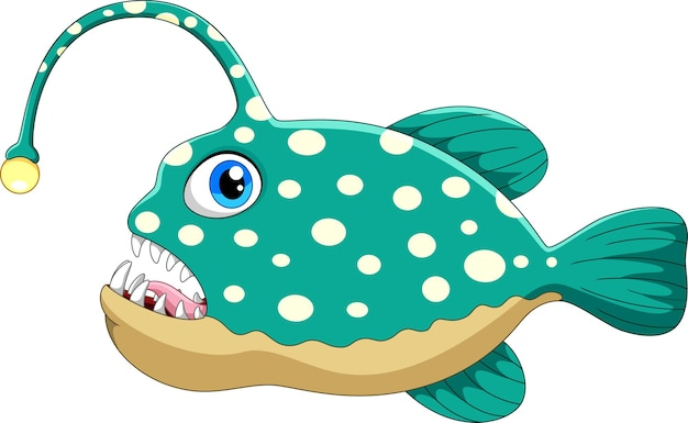Cartone animato di rana pescatrice