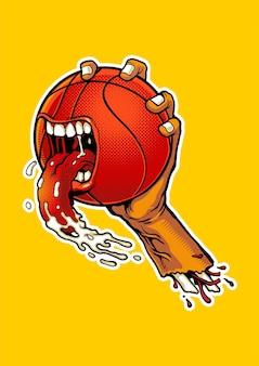 Fumetto arrabbiato di pallacanestro