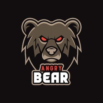 Adesivo orso arrabbiato