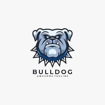 Logo del fumetto bulldog blu arrabbiato