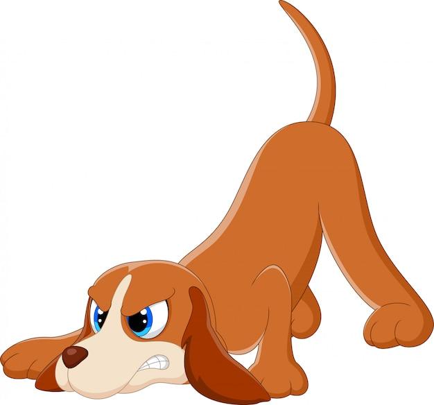 Cartone animato cane arrabbiato