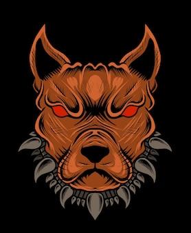 Testa di cane arrabbiato