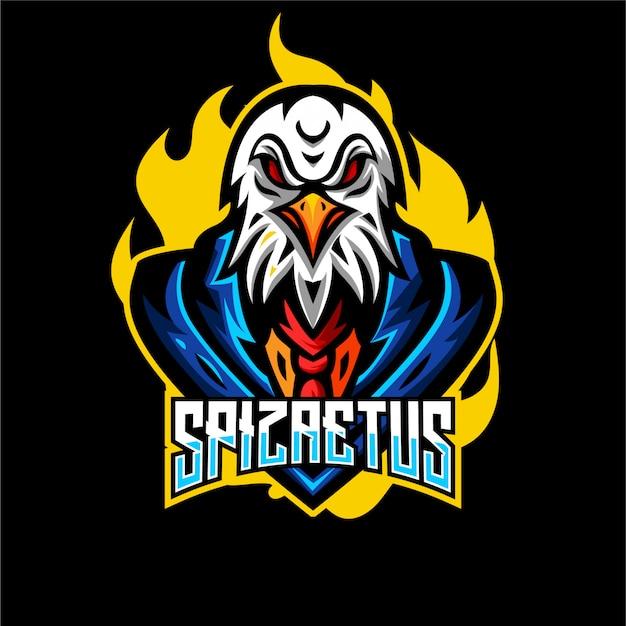 Logo della mascotte aquila arrabbiata
