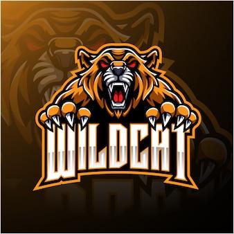 Logo selvaggio gatto arrabbiato