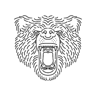 Linea orso animale