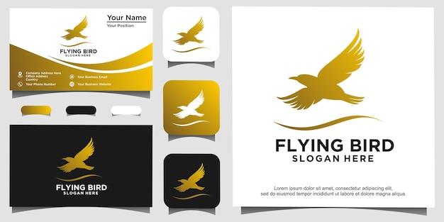 Illustrazione del design del logo dell'uccello animale