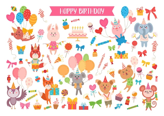 Set di compleanno animale