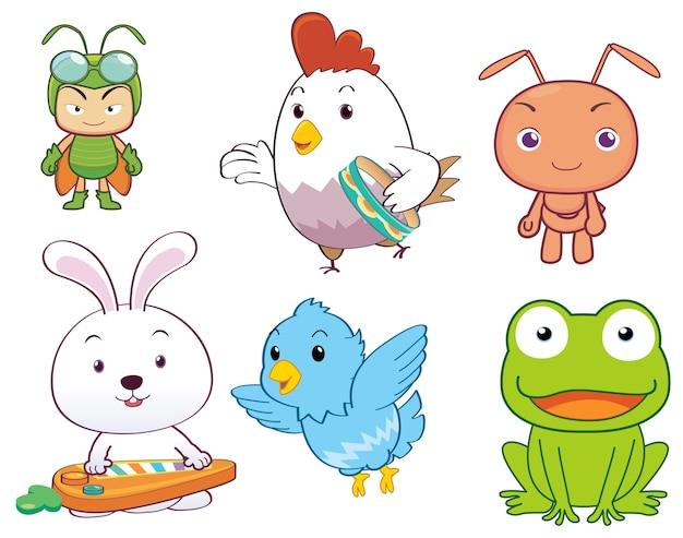 Cartone animato personaggio animale