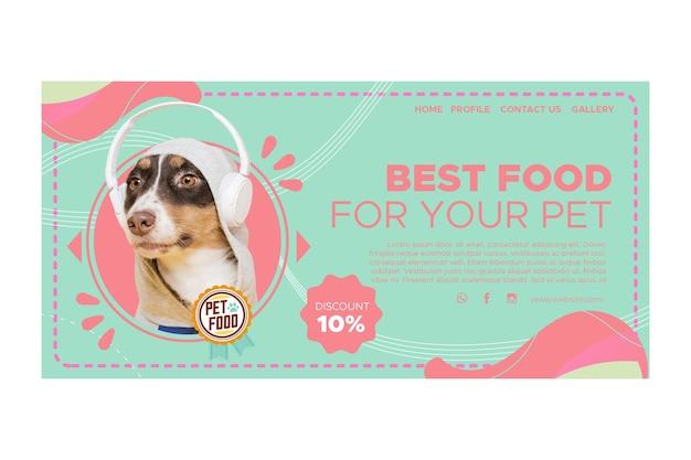 Pagina di destinazione del cibo per animali Vettore Premium