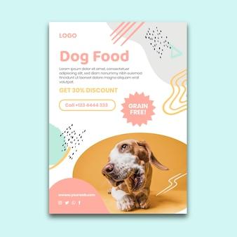 Modello di volantino verticale di cibo animale Vettore Premium