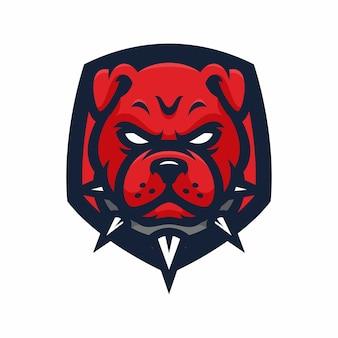 Testa di animale - pitbulls - vector logo / icona illustrazione mascotte