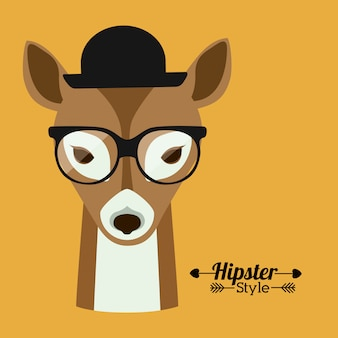 Design di animali hipster