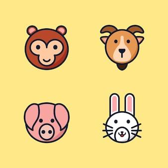 Set di illustrazioni animali