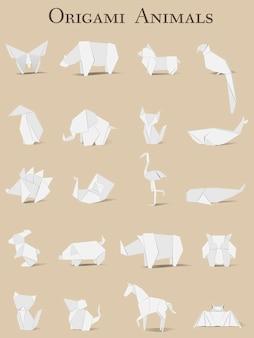 Vettore di origami animali