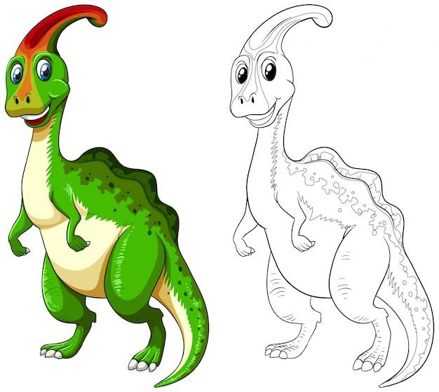 Profilo animale per dinosauro felice