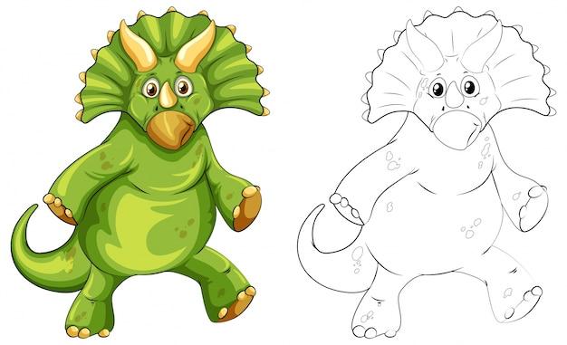 Profilo animale per dinosauro triceratopo