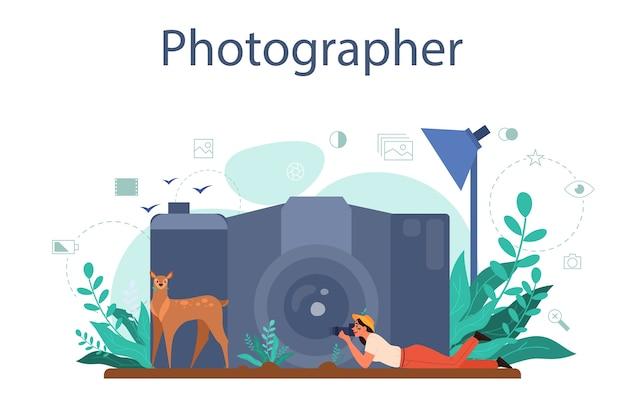 Concetto di fotografo di animali