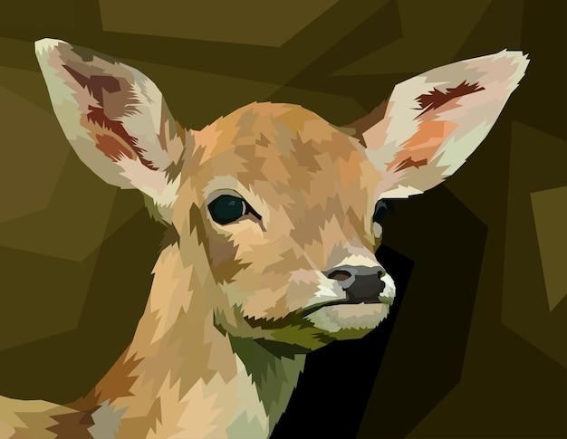 Stile pop art ritratto di cervo con stampa animale