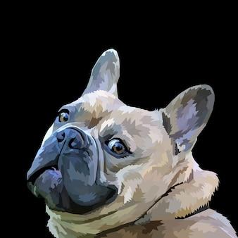 Stampa animale cane pop art ritratto stile isolato decorazione