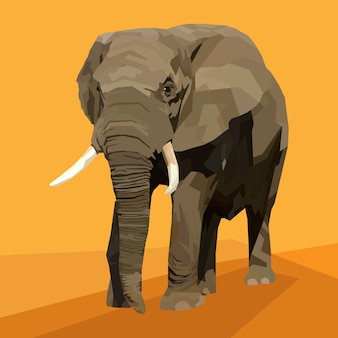 Stile pop art con stampa animalier elefante