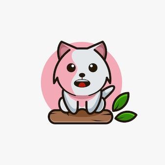 Illustrazione vettoriale di design del logo mascotte spaventato dagli animali
