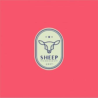 Logo di pecora animale